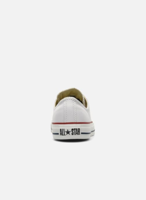Baskets Converse Chuck Taylor All Star Leather Ox W Blanc vue droite