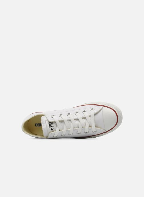 Sneakers Converse Chuck Taylor All Star Leather Ox W Bianco immagine sinistra