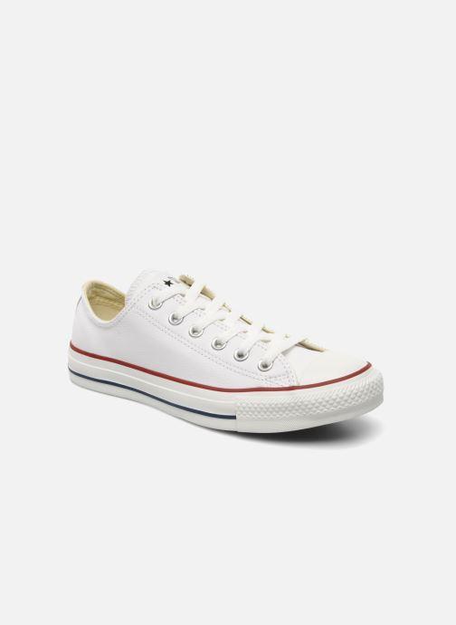 Sneakers Converse Chuck Taylor All Star Leather Ox W Hvid detaljeret billede af skoene