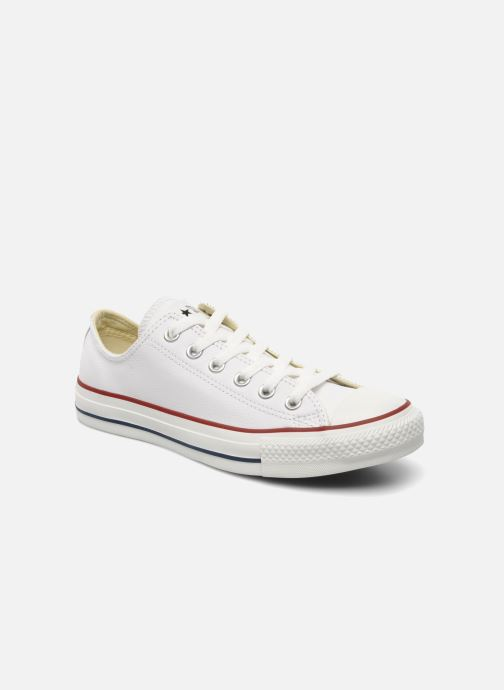 93ca04e8e0a Baskets Converse Chuck Taylor All Star Leather Ox W Blanc vue détail paire
