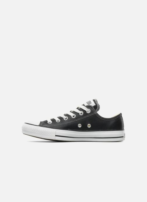 Deportivas Converse Chuck Taylor All Star Leather Ox W Negro vista de frente