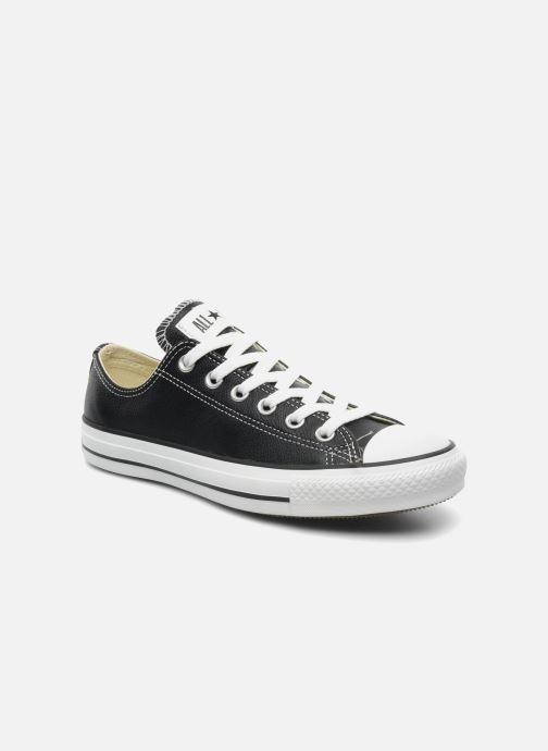 Deportivas Converse Chuck Taylor All Star Leather Ox W Negro vista de detalle / par