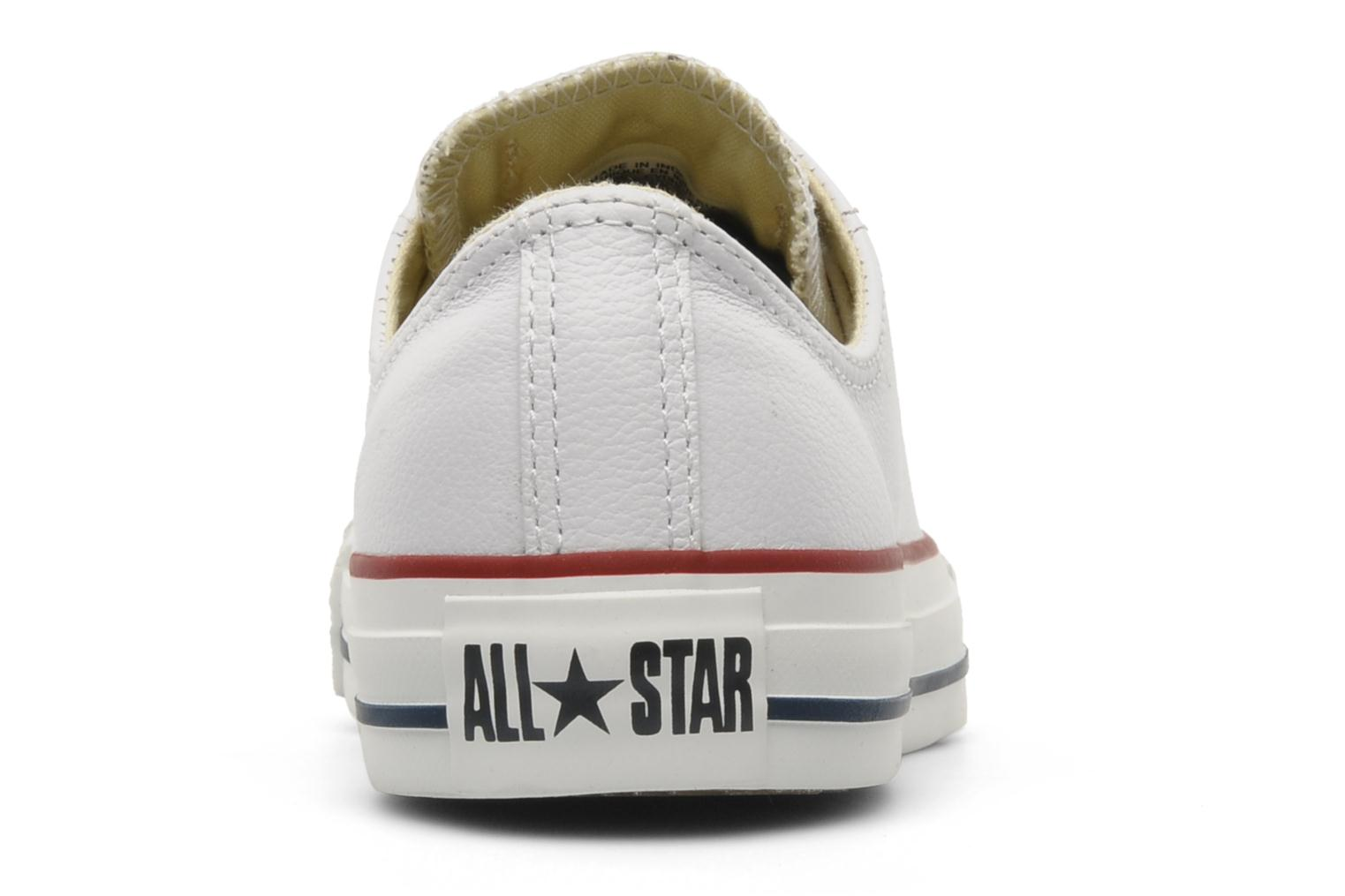 Sneakers Converse Chuck Taylor All Star Leather Ox W Wit rechts