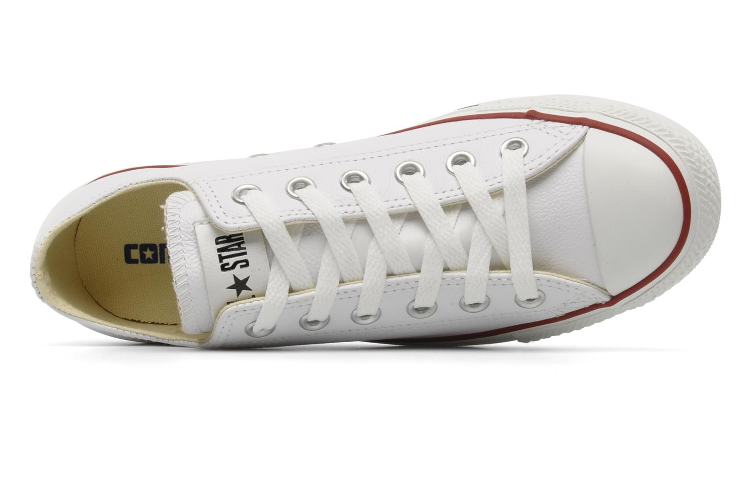 Sneaker Converse Chuck Taylor All Star Leather Ox W weiß ansicht von links
