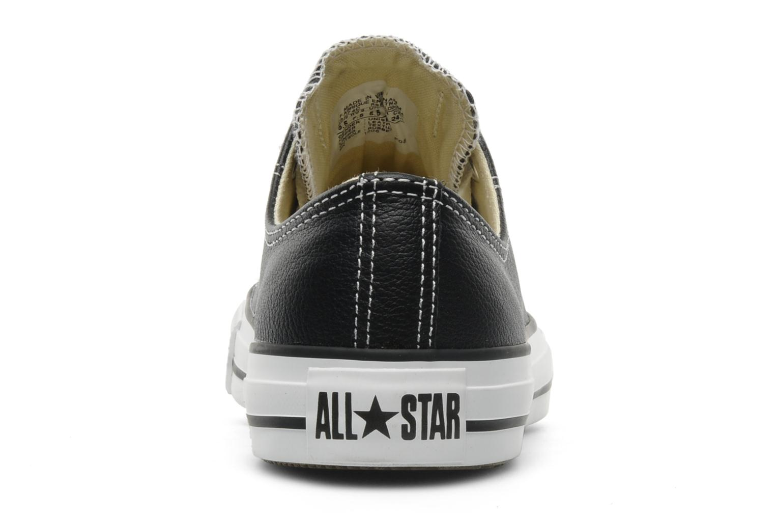 Sneakers Converse Chuck Taylor All Star Leather Ox W Zwart rechts