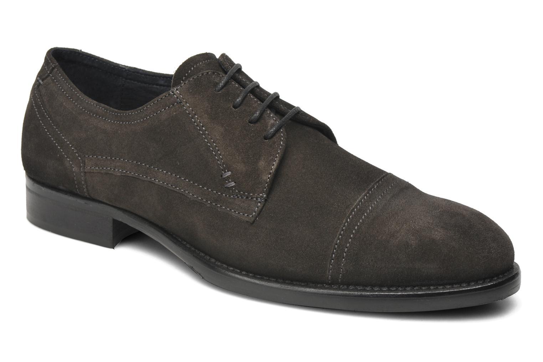 Snøresko Marvin&Co Thepia Grå detaljeret billede af skoene