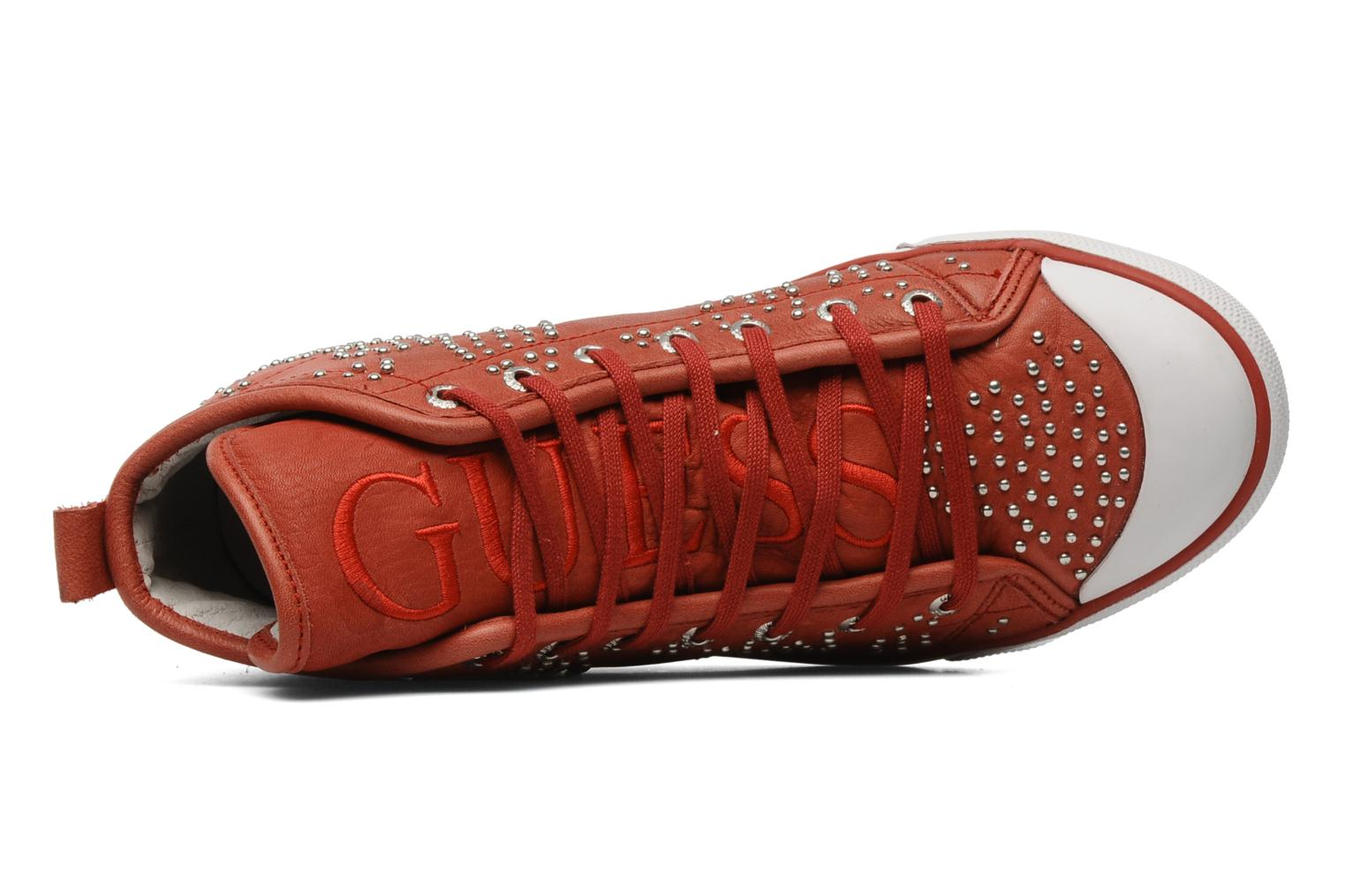 Sneakers Guess Heart Rosso immagine sinistra