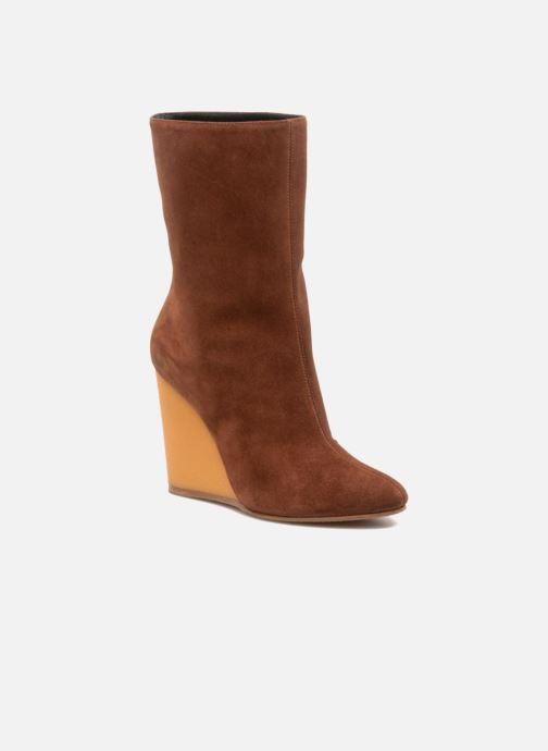Ankelstøvler Vicini Nina Brun detaljeret billede af skoene