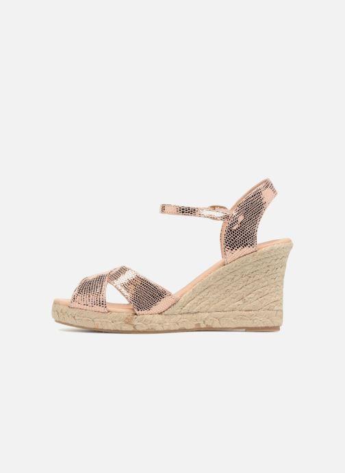 Zapatos de tacón Georgia Rose Divina Oro y bronce vista de frente