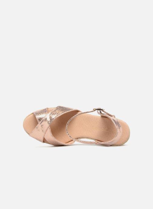 Zapatos de tacón Georgia Rose Divina Oro y bronce vista lateral izquierda