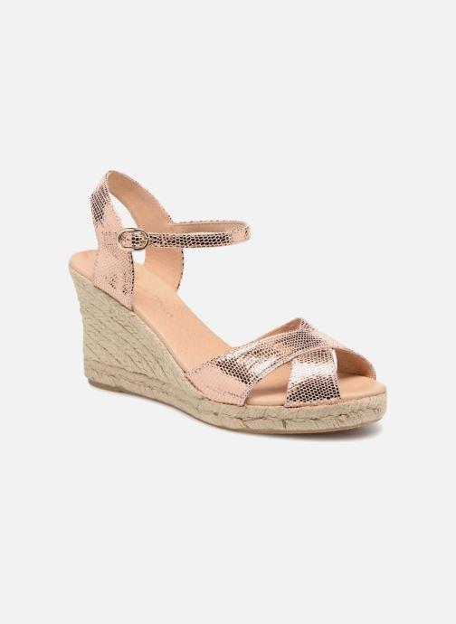 Zapatos de tacón Georgia Rose Divina Oro y bronce vista de detalle / par