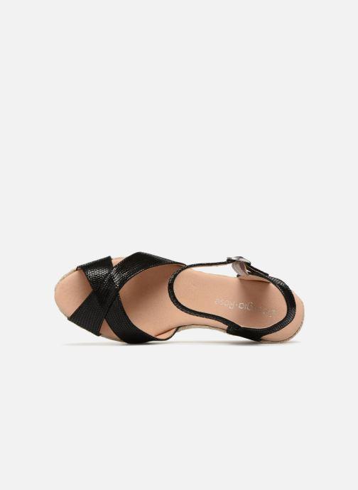 Zapatos de tacón Georgia Rose Divina Negro vista lateral izquierda