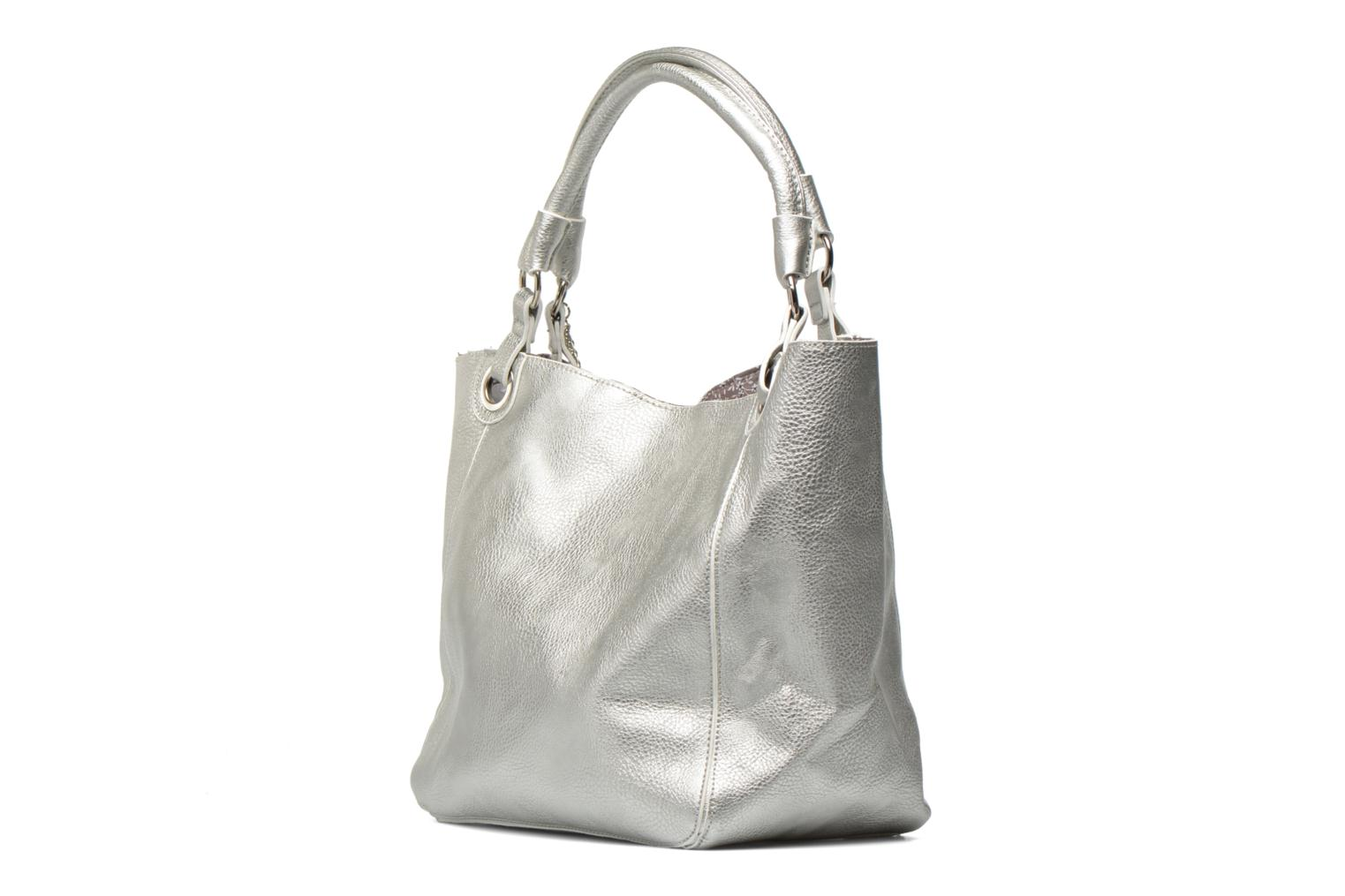 Handbags Georgia Rose Barnabé Silver view from the right