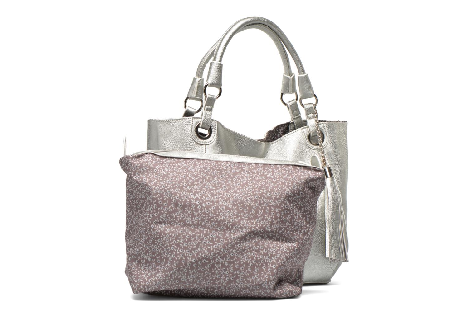 Handbags Georgia Rose Barnabé Silver view from the left