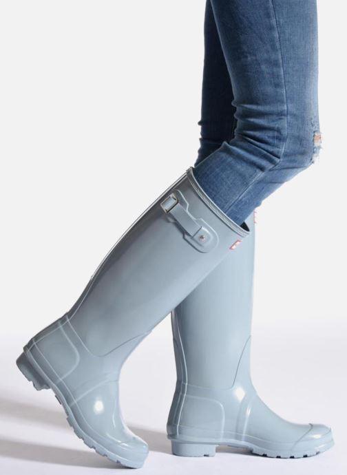 Bottes Hunter Original Tall Gloss Bleu vue bas / vue portée sac