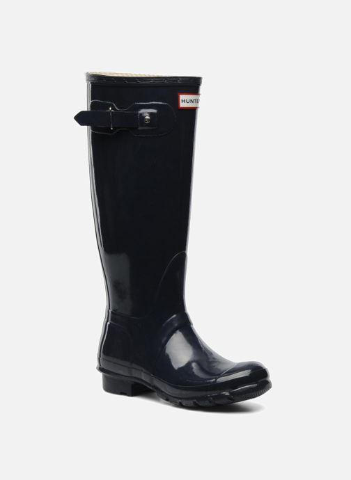 2321501e Støvler & gummistøvler Hunter Original Tall Gloss Blå detaljeret billede af  skoene