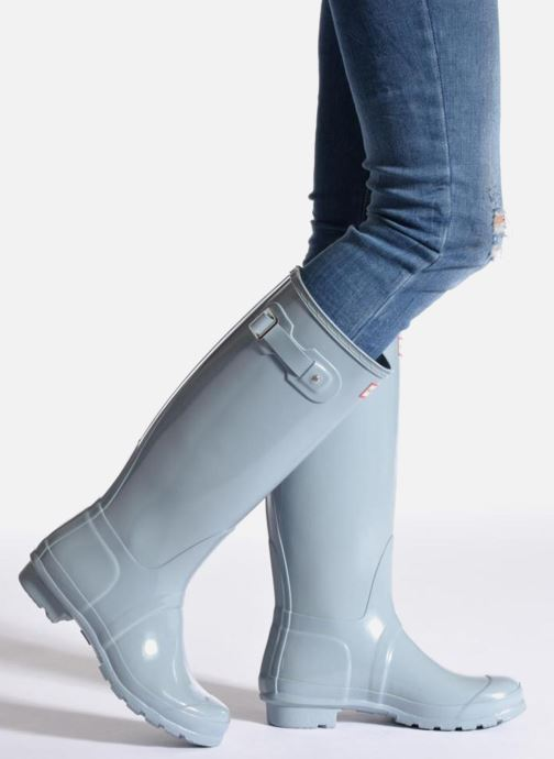 Boots & wellies Hunter Original Tall Gloss Green view from underneath / model view
