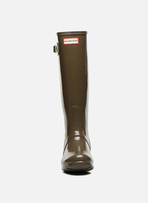 Støvler & gummistøvler Hunter Original Tall Gloss Grøn se skoene på