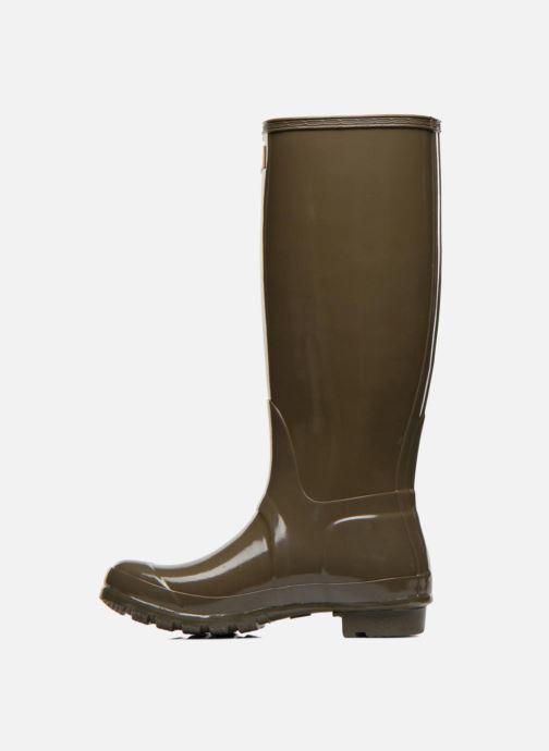 Støvler & gummistøvler Hunter Original Tall Gloss Grøn se forfra