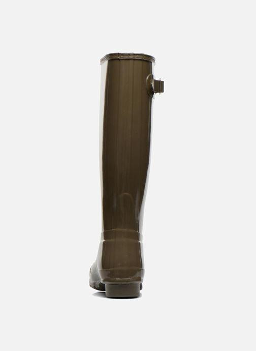 Støvler & gummistøvler Hunter Original Tall Gloss Grøn Se fra højre