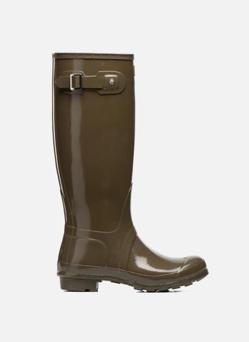 Støvler & gummistøvler Hunter Original Tall Gloss Grøn se bagfra