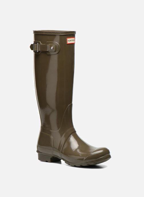 Støvler & gummistøvler Hunter Original Tall Gloss Grøn detaljeret billede af skoene