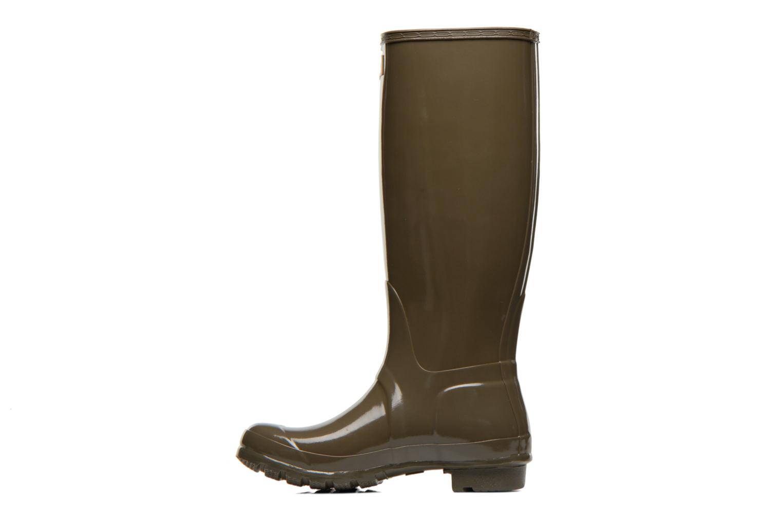 Bottes Hunter Original Tall Gloss Vert vue face