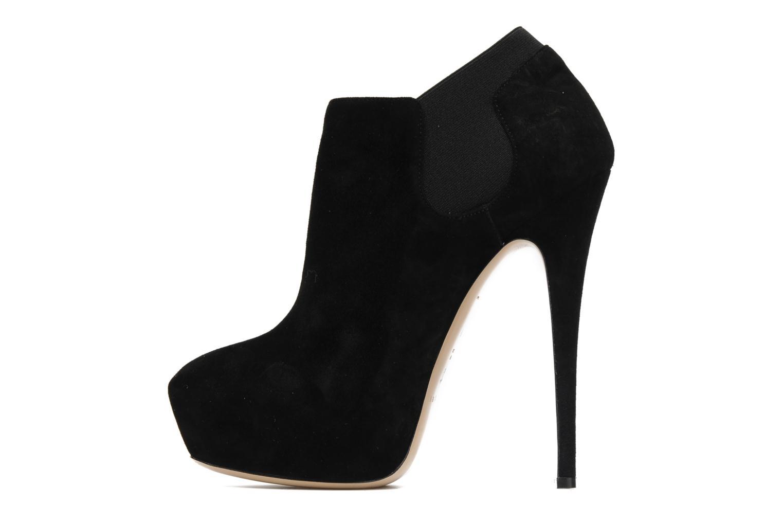 Bottines et boots Casadei Princessuede Noir vue face