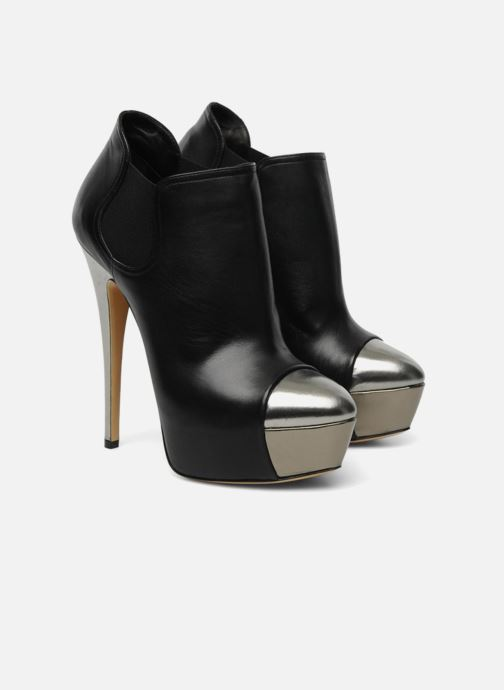 Bottines et boots Casadei puplum Barbe Noir vue 3/4