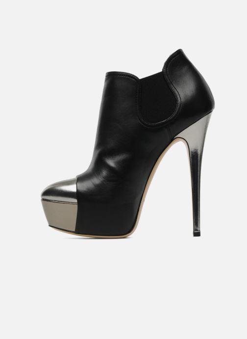 Bottines et boots Casadei puplum Barbe Noir vue face