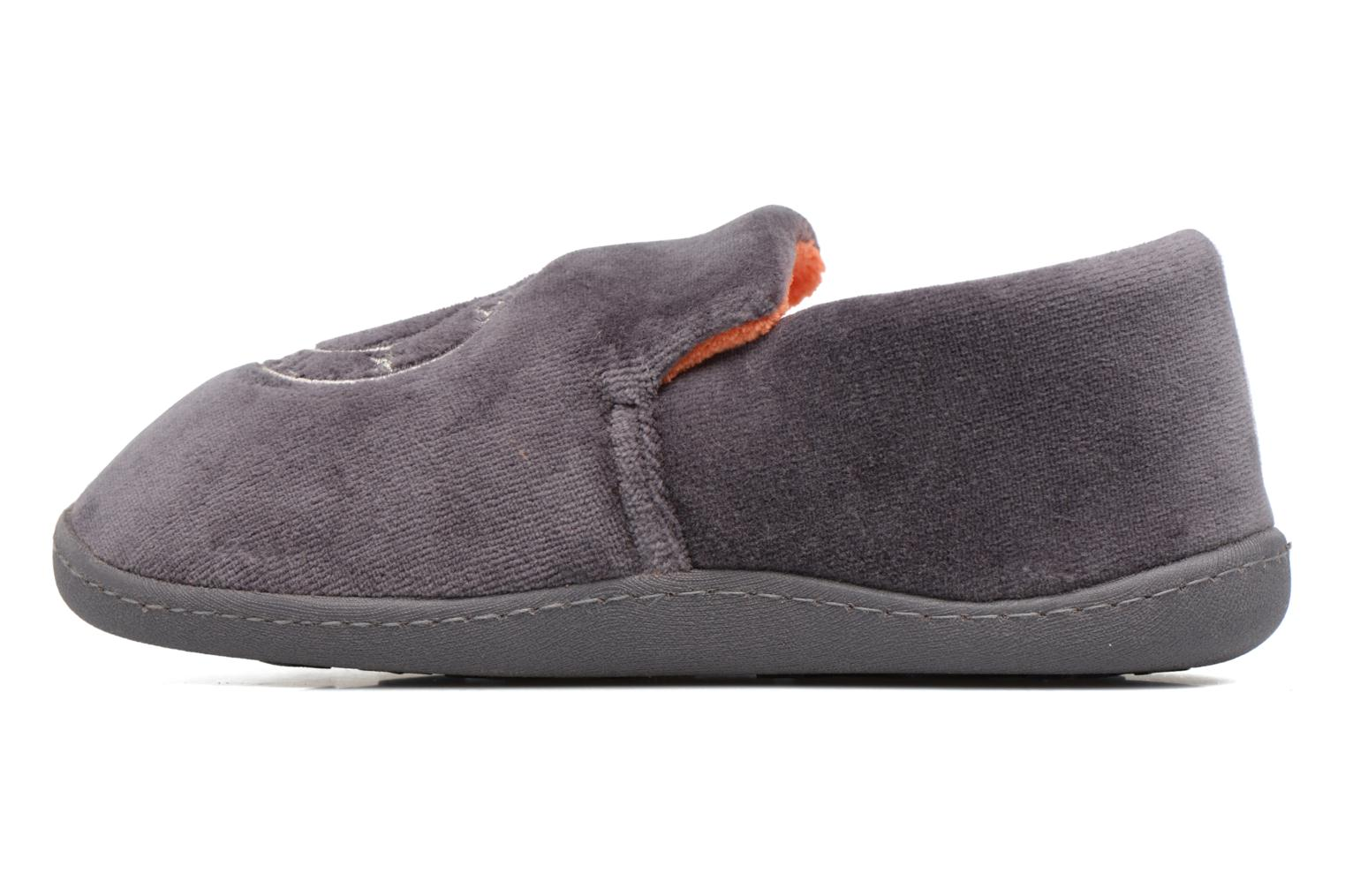 Pantofole Isotoner Charentaise Velours Grigio immagine frontale