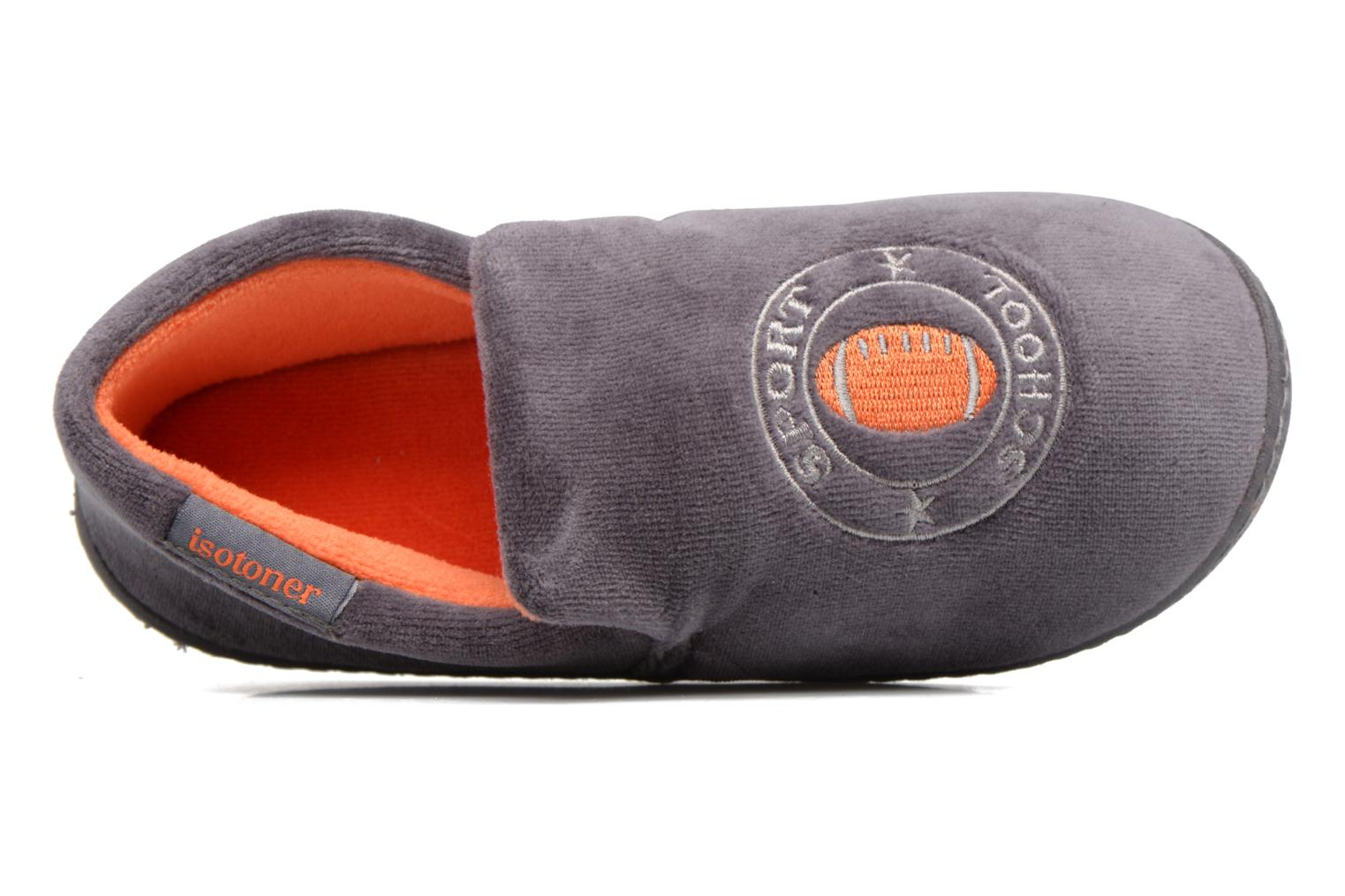 Pantofole Isotoner Charentaise Velours Grigio immagine sinistra