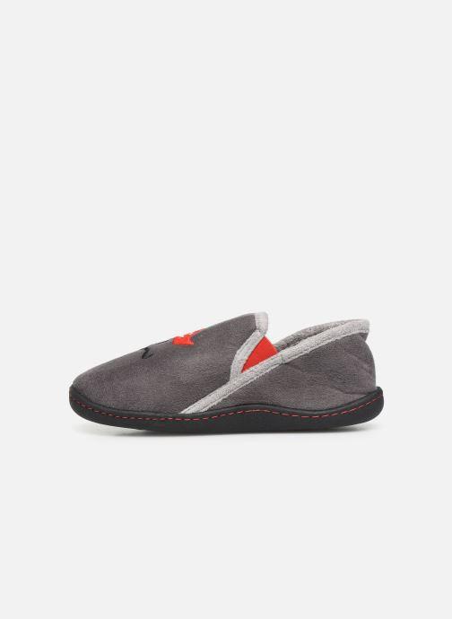 Pantofole Isotoner Mocassin Suédine Grigio immagine frontale