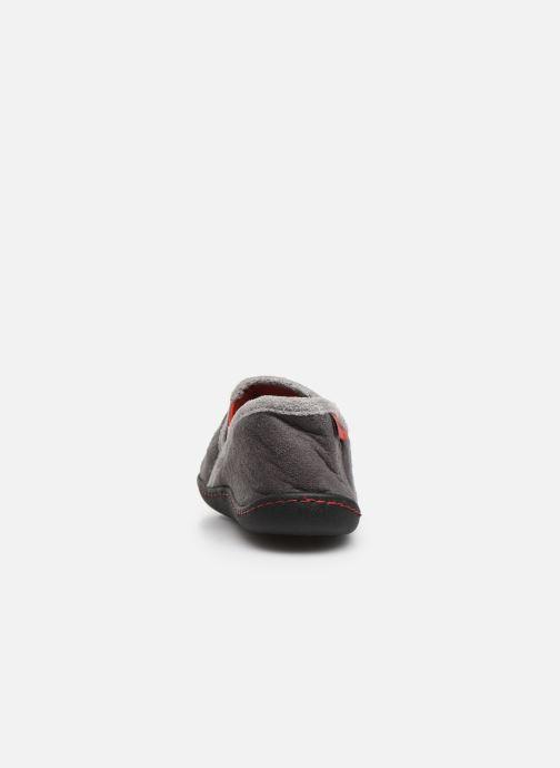 Pantofole Isotoner Mocassin Suédine Grigio immagine destra