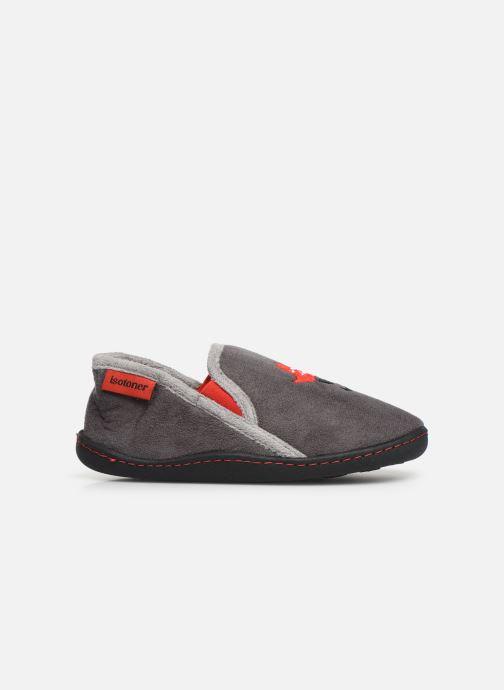 Pantofole Isotoner Mocassin Suédine Grigio immagine posteriore