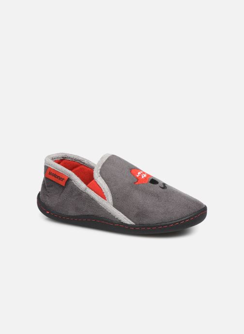 Slippers Isotoner Mocassin Suédine Grey detailed view/ Pair view