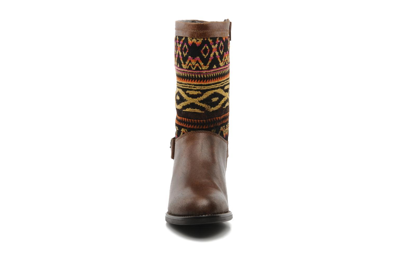 Bottines et boots Georgia Rose Gustine Marron vue portées chaussures
