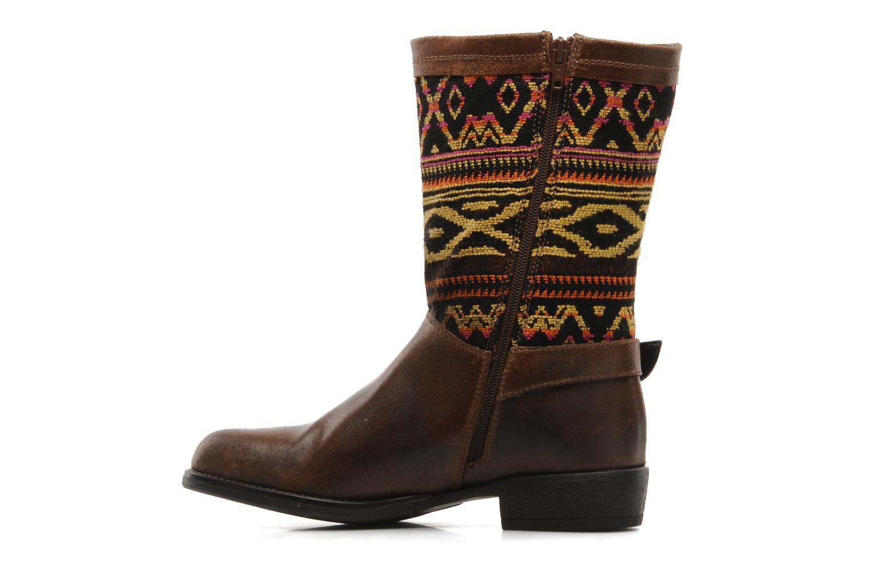 Bottines et boots Georgia Rose Gustine Marron vue face