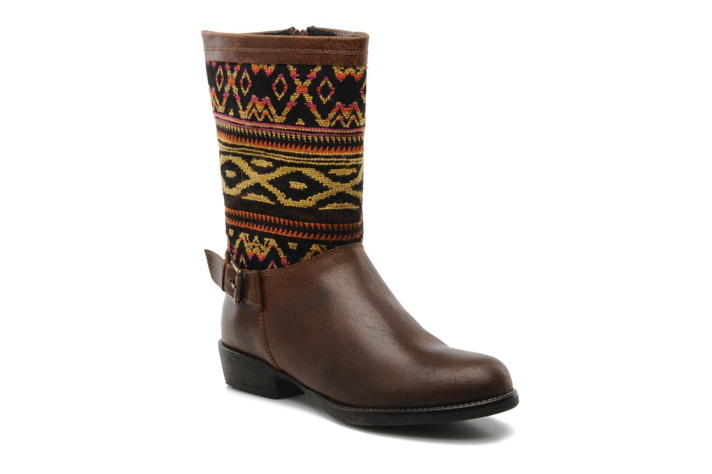 Bottines et boots Georgia Rose Gustine Marron vue détail/paire