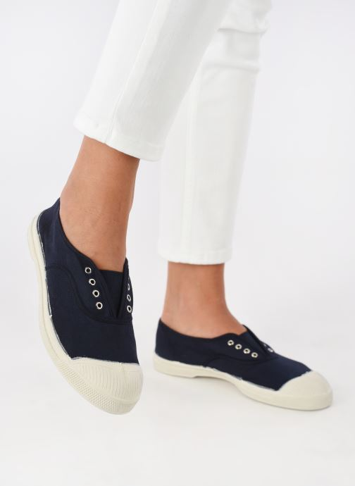 Trainers Bensimon Tennis Elly Blue view from underneath / model view