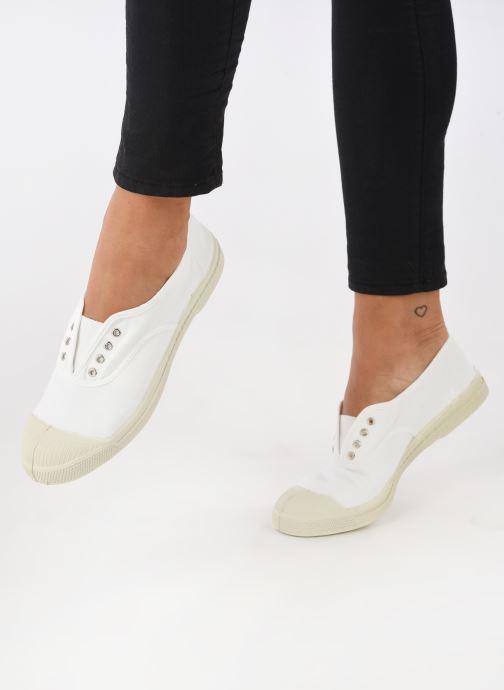 Sneaker Bensimon Tennis Elly weiß ansicht von unten / tasche getragen