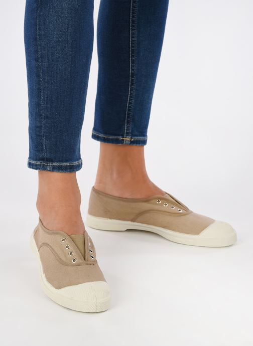 Trainers Bensimon Tennis Elly Beige view from underneath / model view