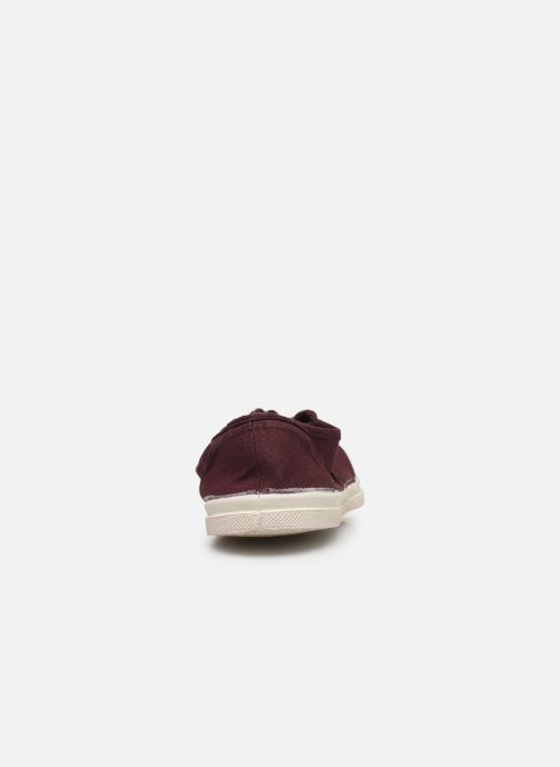 Trainers Bensimon Tennis Elly Burgundy view from the right