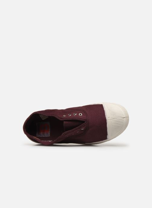 Trainers Bensimon Tennis Elly Burgundy view from the left