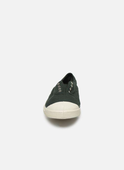 Baskets Bensimon Tennis Elly Vert vue portées chaussures
