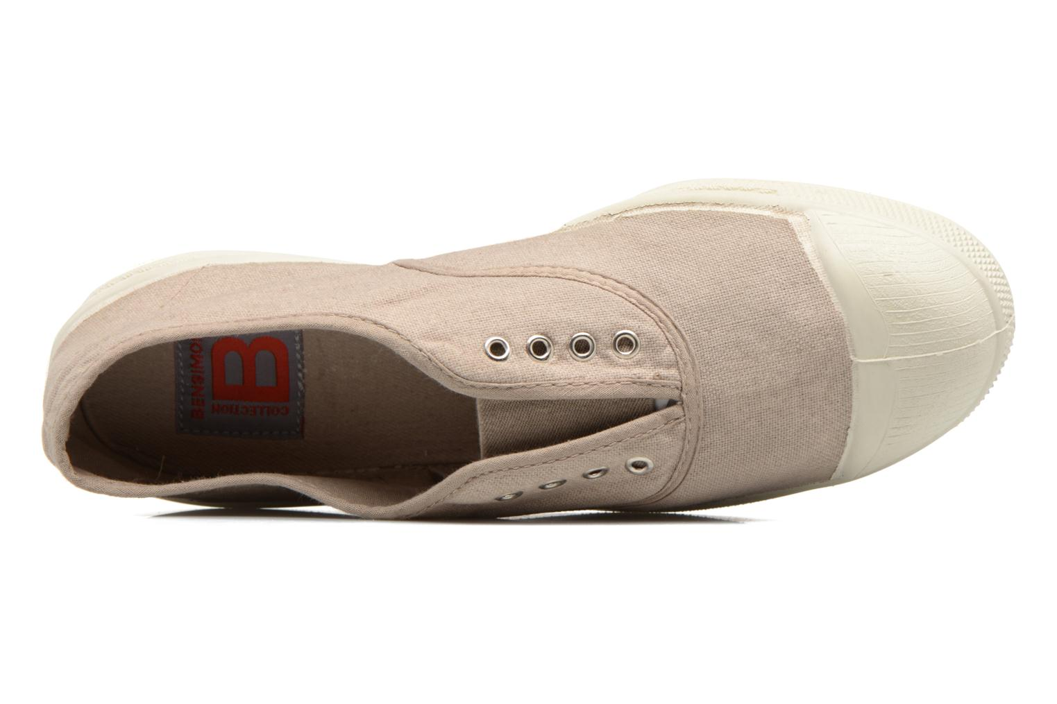 Trainers Bensimon Tennis Elly Beige view from the left