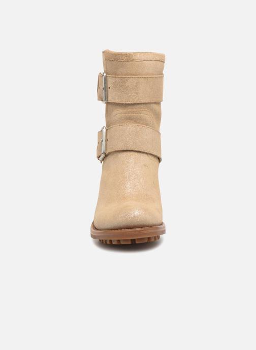Stiefeletten & Boots Free Lance Biker 7 Mini Strap beige schuhe getragen