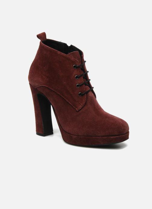 Bottines et boots Georgia Rose Nuts Bordeaux vue détail/paire