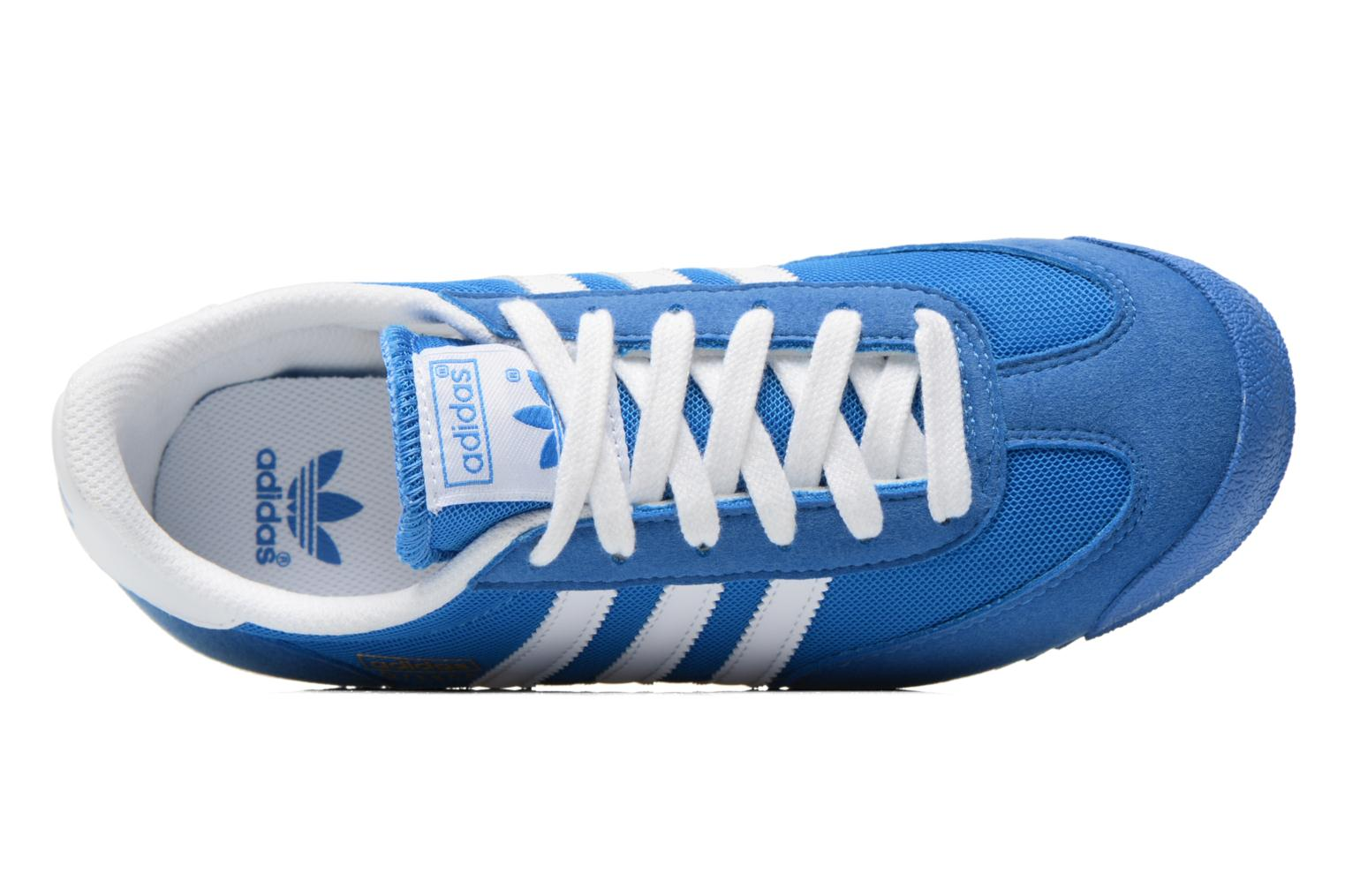 Trainers Adidas Originals Dragon J Blue view from the left