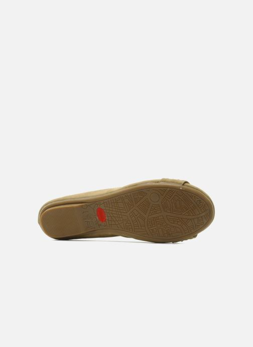 Ballet pumps Refresh Valencina Beige view from above